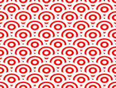 Concentric circles abstract pattern. Seamlessly re — Stock Vector