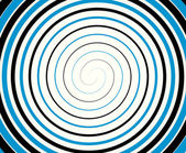 Black-blue duotone spiral  background. — Stock Vector