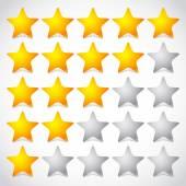 Elemento di valutazione a stelle 5 stelle. — Vettoriale Stock