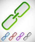 Chain link symbol set — Stock Vector