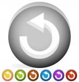 Arrow following a circle path — Stock Vector