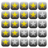Elemento 5 estrellas estrellas. — Vector de stock