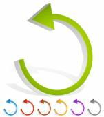 Arrow following a circle path — Vetor de Stock