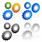 Gears  icon set — Stock Vector