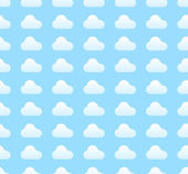 White clouds pattern — Stock Vector