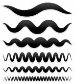 Set of wavy and curved lines — Stock Vector