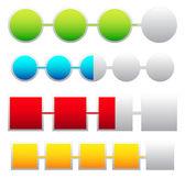 Progress indicators, loading icons — Stock Vector