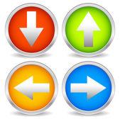 Arrow icons set — Stock Vector