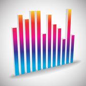 Single 3d equalizer element — Stock Vector