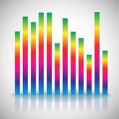Single colorful  equalizer element — Stock Vector