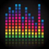 Single colorful  equalizer — Stock Vector