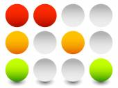 Traffic lamps, traffic lights — Vetor de Stock