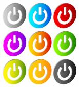 Power buttons. Icons — Stock Vector