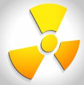 Radiation, radioactivity sign. — Stock Vector
