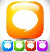 Kleurrijke tekstballonnen — Stockvector
