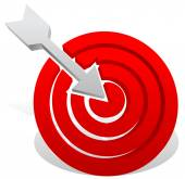 Arrow in red target icon — Stock Vector