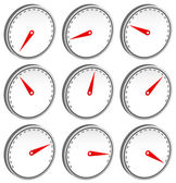 Dial faces with pointer set — Stock Vector