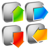 Colorful bold arrow icons. — Stock Vector