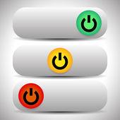 Renk Güç düğmeleri — Stok Vektör