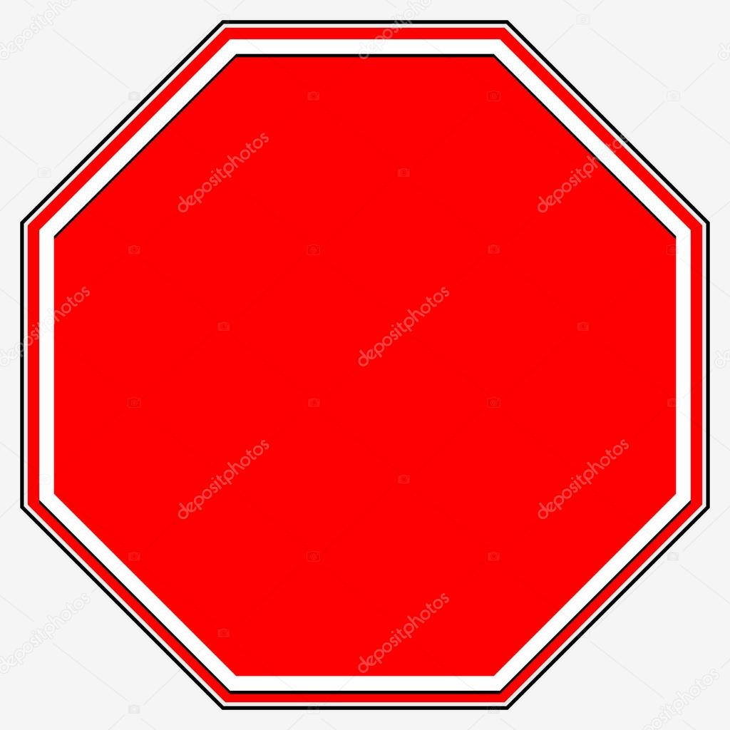 blank stop sign � stock vector 75285877