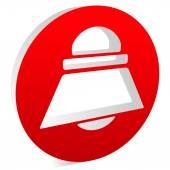 Bell, siren or alarm symbol — Stock Vector