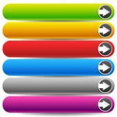 バナー、矢印ボタン — ストックベクタ
