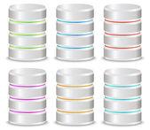 3d metallic cylinders — Stock Vector
