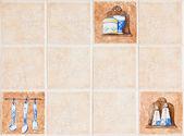 Keramiska vägg — Stockfoto