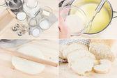 Photo set baking homemade bread — Stock Photo
