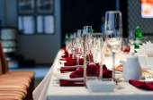 Formal stylish setting on a dinner table — Stock Photo