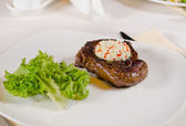 Steak with Herbed Butter and Garnish — Stock Photo