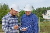 Architect and engineer having a discussion — Stock Photo