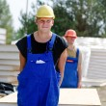 Workmen on a building site — Stock Photo #59163835