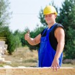 Builder giving a thumbs up gesture — Stock Photo #60217179
