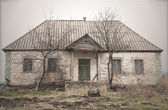 Old Abandoned Single Storey House — Stock Photo