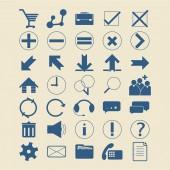 Set Infographics web icons or design elements. — Stok Vektör