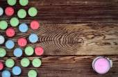 Colorful Candles on Wooden Background — Stock Photo