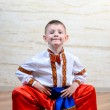 Ukrainian child performing a traditional dance — Stock Photo #72888609