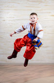 Talented child performing a traditional dance — Stock Photo