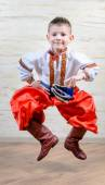 Ukrainian child performing a traditional dance — Stock Photo