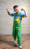 Young Boy Dancing and Snapping Fingers — Stock Photo