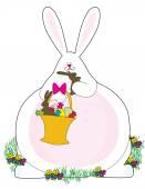 A white Easter Bunny — Stock Vector
