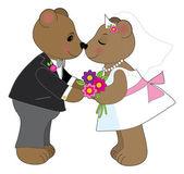 Pair of teddy bears — Stock Vector
