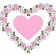 Pink roses heart — Stock Vector #66290651