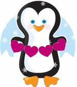 Penguin Heart — Stock Vector