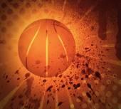 Grunge Basketball — Stock Photo