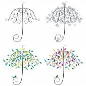 Umbrella Shape Tree — Stock Vector