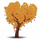 Stylized Autumn Tree — Stock Vector