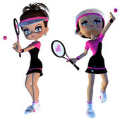 Cartoon Tennis Player — Stock Photo