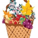 Basket of Vegetables — Stock Vector #55646287